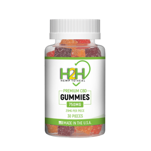 Hemp 2 Heal CBD Gummies 25mg - 30ct