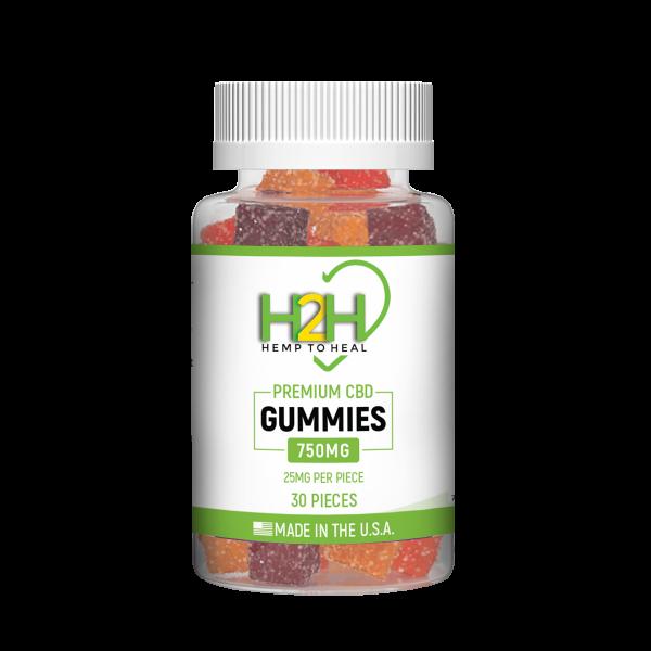 Hemp 2 Heal CBD Gummies 25mg - 30ct